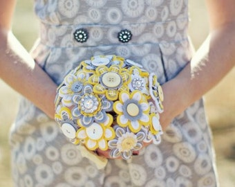Custom Color Bridesmaid Felt Button Bouquet