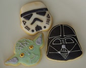 Custom Order for 6 Hand Decorated Star Wars Sugar Cookies