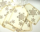 Lacy Snowflake tags