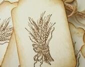 Fall Autumn Harvest Wheat Tags