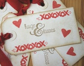 Hugs and Kisses Valentine Gift Tags
