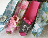 Marie Antionette inspired fancy paper shoe favor boxes