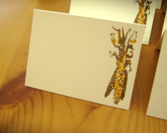 Fall Autumn Indian Corn Place Cards