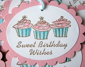 Birthday Wishes Cupcake Tags