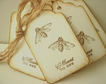 Wedding Wish Tag, Meant to Bee, Wish Tree Tags