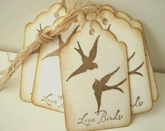 Love Bird Swallow Wedding Wish Tags