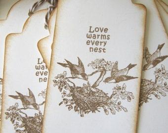 Bird Nest Wedding Wish Gift Tags 50