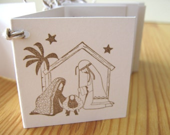 Christmas Manger Gift Tags, Holy Family Gift Tags