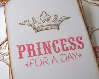 Pink Princess Gift Tag, Crown Tag