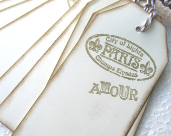 Paris, Amour, City of Lights Gift Tags