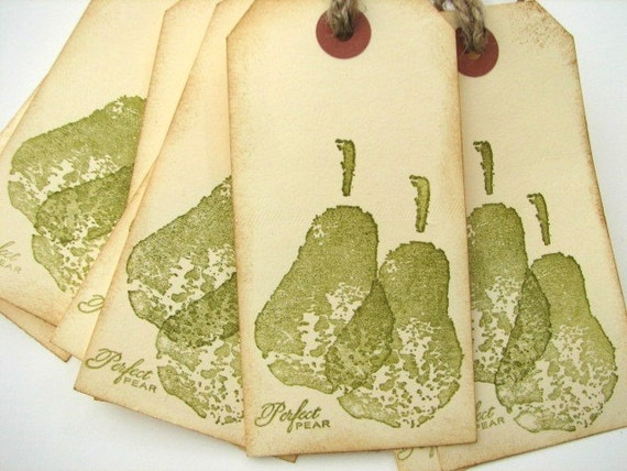 Perfect Pear Wedding Wish Tree Gift Tags Escort Cards Placecards