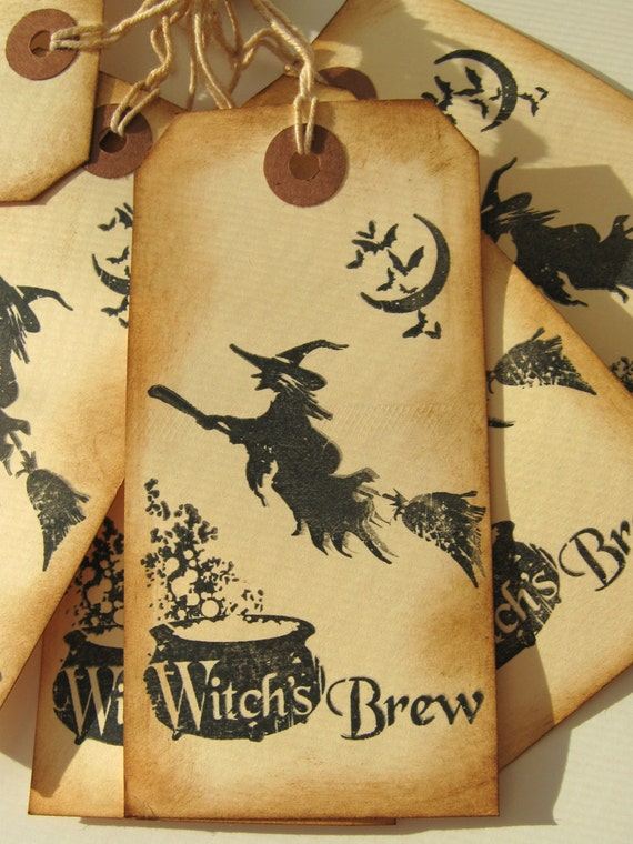 Halloween Witch's Brew Tags