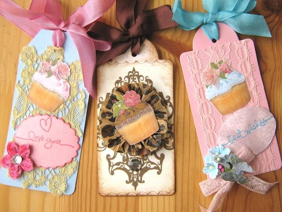Birthday Cupcake Gift Tags