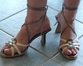 Strappy Summer Heels, made to order in your size
