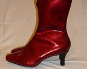 Patent Leather 1/2 Height Boot, Made to order in your size
