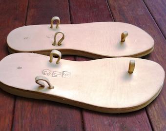 Leather Sandal - Mypick Sandal - Natural colour - Base