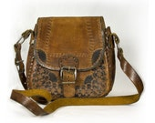 Vintage tooled Leather Bag with great detailing
