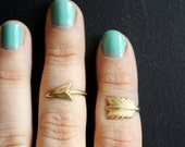 First Knuckle Adjustable Arrow Rings -  Set of 2 Rings
