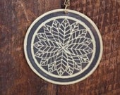Nature Badge of the Forest Necklace with Brass Etched Leaf
