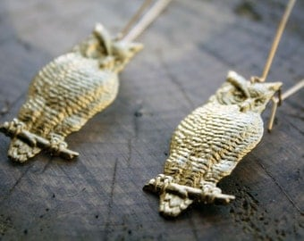 Wise Owl of the Forest Earrings