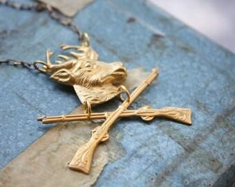 Deer Hunter Necklace