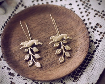 Mountain Hare Chase Jackrabbit Earrings