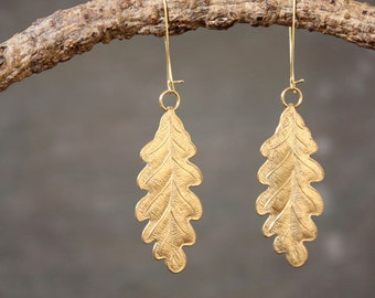 Oak Leaf Woodland Earrings