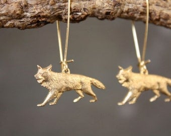 Sly Fox of the Forest Earrings