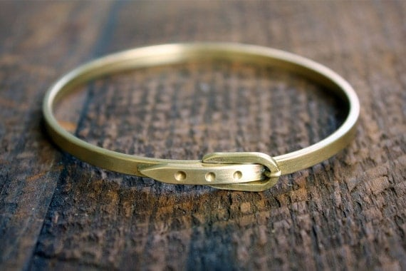 Vintage Belted Bangle Bracelet