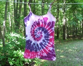 Tie Dye Tank Top w/ adjustable straps - Womens Large - Pink and Purple Swirl - Ready to Ship