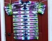 Tie Dye T-shirt - Mariposa Stripe - Adult Small - Ready to Ship