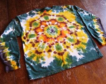 Lotus Blossom Tie Dye Shirt - Long Sleeve - Youth Medium