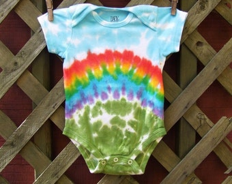 Tie Dye Baby Onesie - Rainbow Bliss - Sizes newborn, 6, 12, 18, 24 month - Made To Order