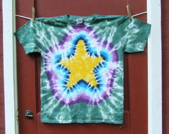 Tie Dye T-shirt - Star - Youth Large - Ready to Ship