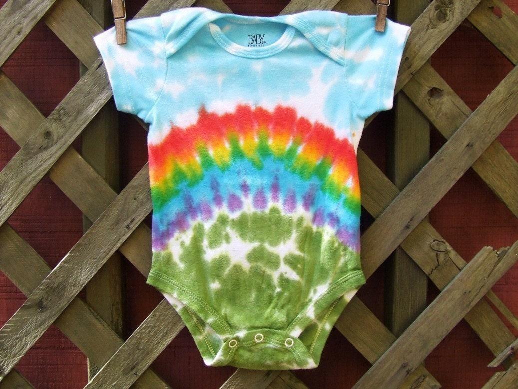 Tie Dye Baby Onesie Rainbow Bliss Sizes newborn 6 12
