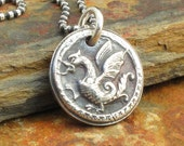 Fine Silver Dragon Necklace - Little Dragon