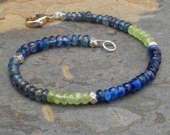 Kyanite Sterling Silver Bracelet - Ocean