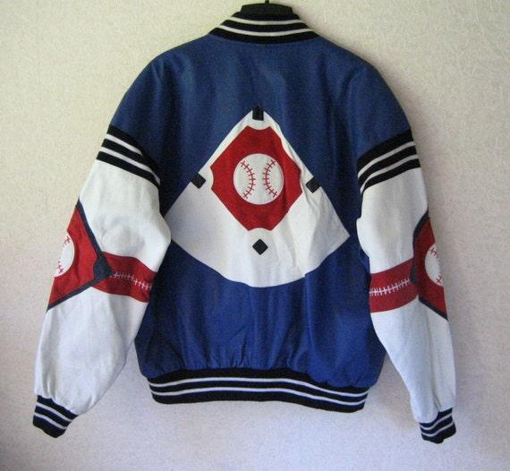 Vintage Mens Michael Hoban Baseball Leather and Suede Jacket XL