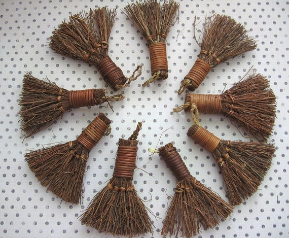 straw mini broom twigs brooms craft supply by