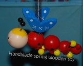 Handmade wooden spring toy
