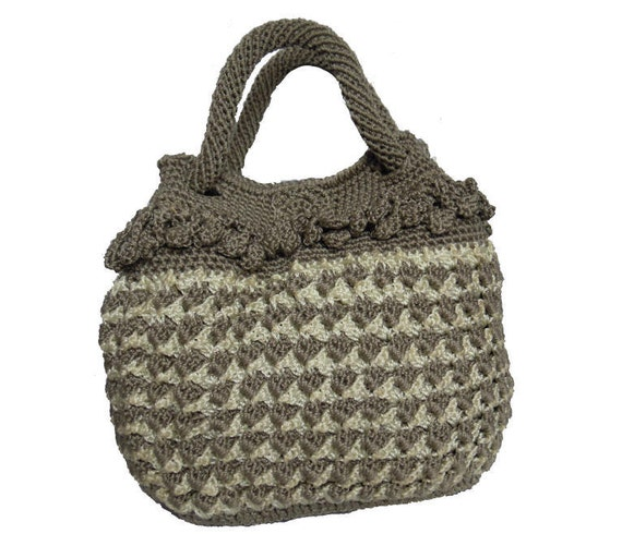 Crochet Ladies Bags : ... similar to Handmade wool crochet hook handbag hobo women bag on Etsy