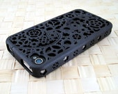 Designer iPhone 4S & 4 Steampunk Inspired Cogs and Gear Puzzle Case (3D printed Nylon) - 5 color options - MADE TO ORDER