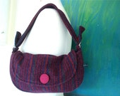 Nana's Bag-Burgundy stripe