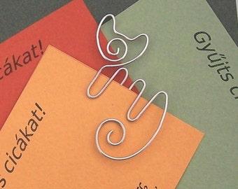 Lyric cat bookmark