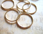 14k Gold Filled Links CONNECTORS Eternity Rings Circles, 10 pcs Bulk, 14 mm, 19 gauge ga, Thick Strong Circle Round, CLOSED...n14