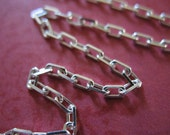 Shop Sale,, 3 feet Bulk, Sterling Silver Chain, Drawn Cable Chain, Rectangle Links, 2.5x1.7 mm, heavy, 10-35% Less Wholesale SS S601 hp