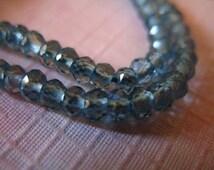 Shop Sale...5 10 20 pcs, LONDON BLUE Topaz Rondelles Beads, Luxe AAA, Genuine, 3-3.5 mm, Teal Blue december birthstone  .brides bridal ., 35