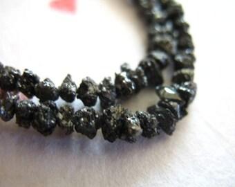 Shop Sale.. ROUGH DIAMOND, Black Diamonds, Diamond Nugget Chips, Luxe AAA, 5 pcs Bulk, 3-3.75 mm, april birthstone..ddb 37