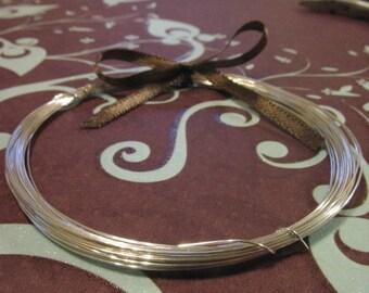Shop Sale.. 3 feet, Sterling Silver Wire, 20 gauge ga g, dead soft or half hard, round wire, wholesale wire  WSS20 hp