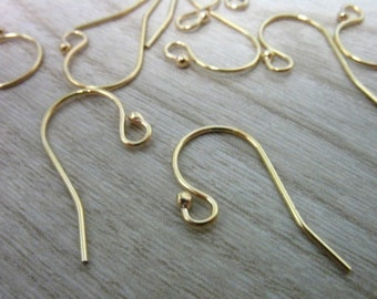 Shop Sale.. 5 pairs BULK, 14k Gold Filled French Hook Earwires Earrings,, 21x12 mm, Single ball.. basic.. wholesale
